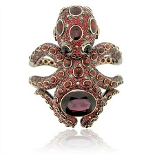 Precious Gemstone Octopus Cuff