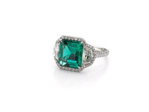 No Heat Emerald Ring