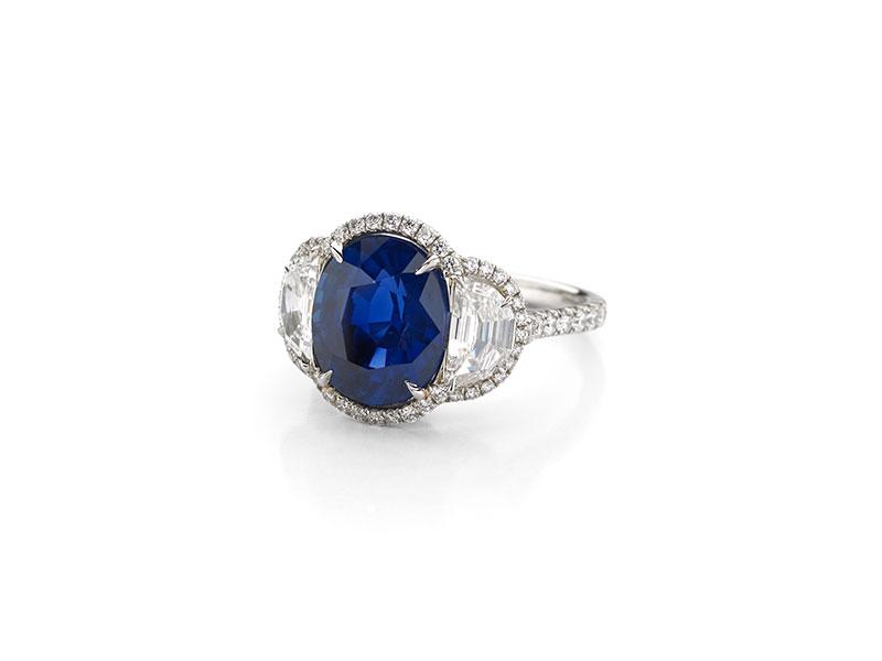 No Heat Sapphire Ring