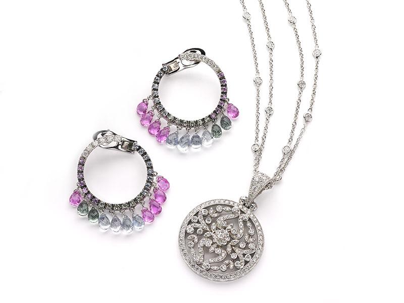 Sapphire Briolet Earrings