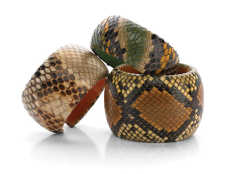 Snake Skin Cuffs